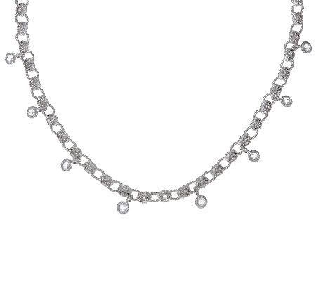 Judith Ripka Sterling 8.85 cttw Diamonique Link Necklace