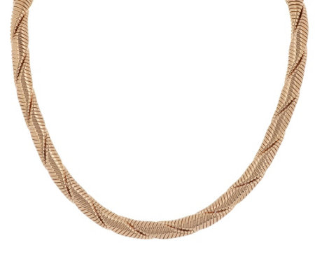 """As Is"" Bronzo Italia 20"" Double Twisted Round Tubogas Necklace"