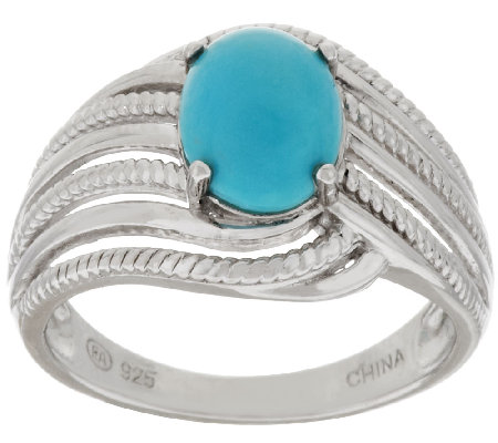 """As Is"" Sleeping Beauty Turquoise Sterling Silver Textured Ring"