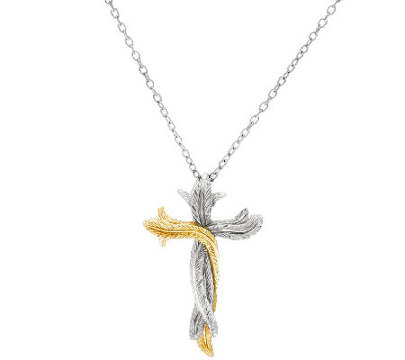 Scott Kay Sterling Silver & 14K Clad Two-tone Cross Necklace