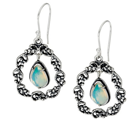 Sterling Silver 2.00 ct tw Gemstone Drop Earrings by Or Paz