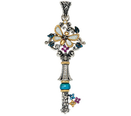 Barbara Bixby Sterling & 18K Multi-Gemstone Dragonfly Key Enhancer