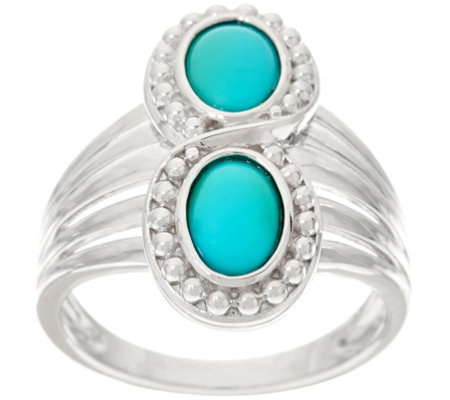 Sleeping Beauty Turquoise Sterling Silver Elongated Ring