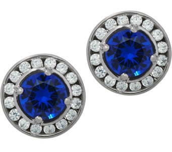 Diamonique & Simulated Gemstone Stud Earrings, Sterling - J331340
