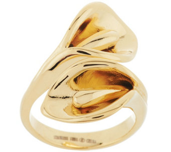 """As Is"" Stainless Steel Calla Lily Wrap Design Ring - J332740"