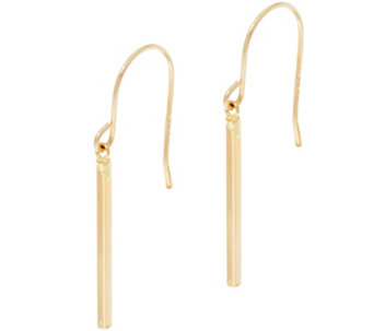 14K Gold Polished Stick Dangle Earrings - J334640