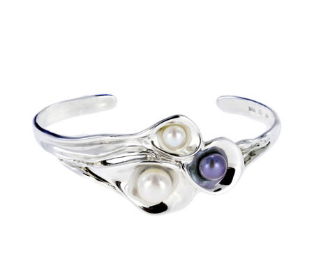 Hagit Sterling Organic Cultured Pearl Cuff