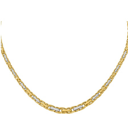 14K Gold Interlocking Oval Link Necklace, 8.3g