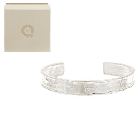 "Shawn's ""Hear My Soul Speak"" Sterling Inscribed Small Cuff, 24.0 g"