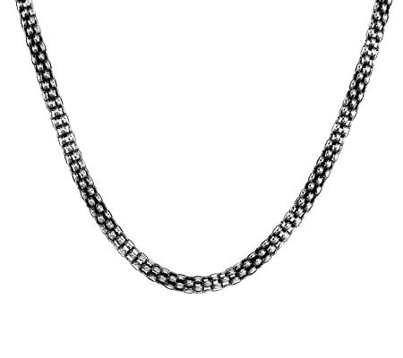 "Michael Dawkins Sterling 16"" Mesh Chain Magnetic Clasp Necklace"