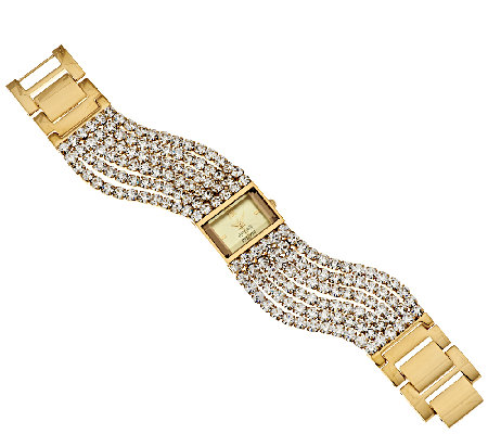Joan Rivers Couture Chic Multi-Strand Crystal Watch