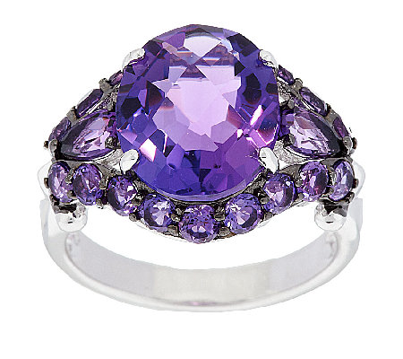 5.25 ct tw Amethyst Oval Sterling Ring