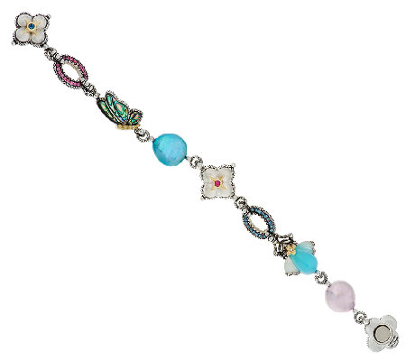 Barbara Bixby Sterling & 18K Mother-of-Pearl Multi-Gemstone Garden Bracelet