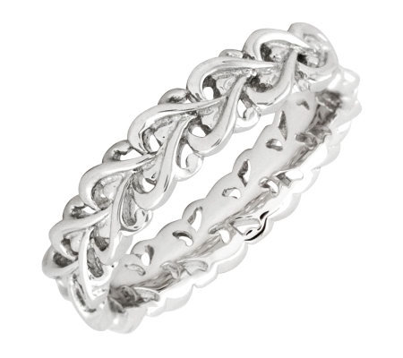 Simply Stacks Sterling Silver Polished Intertwined Heart Ring