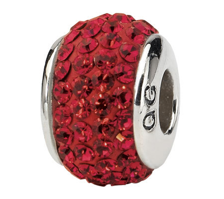 Prerogatives Sterling Scarlet Full Swarovski Crystal Bead
