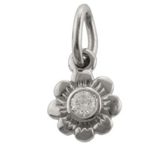 Mixers Sterling Round Crystal Flower Pendant - J304741