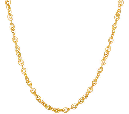"Veronese 18K Clad 20"" Double Oval Link Necklace"