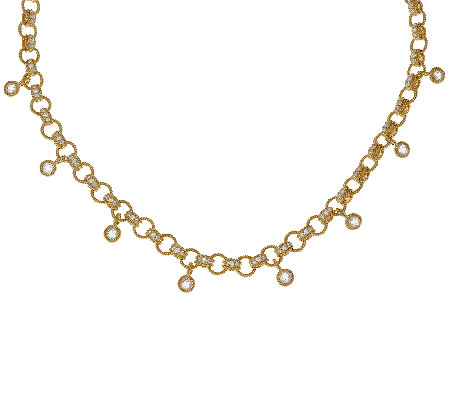 Judith Ripka 14K Clad 8.85 cttw Diamonique Link Necklace