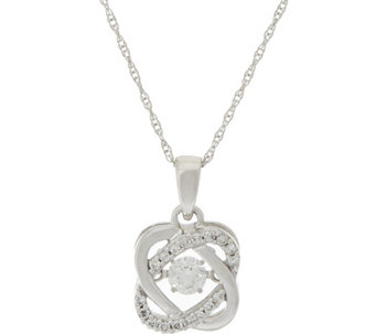 """As Is"" Halo Dancing Diamond Pendant w/Chain 14K, 1/4 cttw by Affinity - J324341"