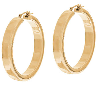 "Oro Nuovo 1-1/2"" Polished Round Hoop Earrings, 14K - J324641"
