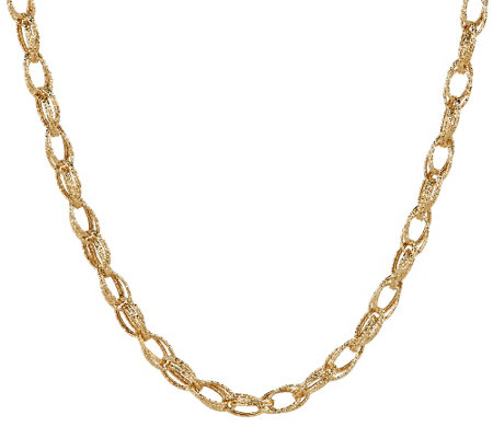 """As Is"" EternaGold 18"" Textured Multi- Link Necklace 14K Gold, 7.8g"