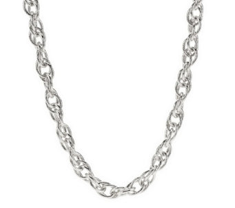 """As Is"" Textured Interlocking Chain Necklace by VT Luxe - J333341"