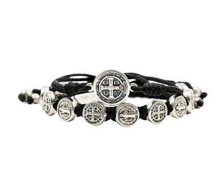 My Saint My Hero Blessing Benedictine Medal Bracelet Set