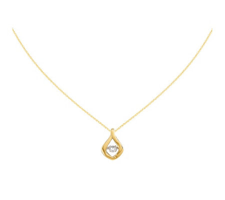 "1/5 cttw Diamond Free-Form Slide Pendant w/18""Chain, 14K"