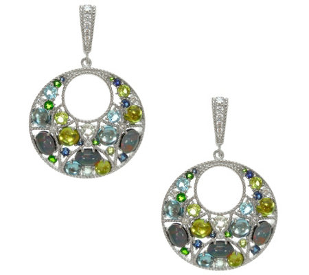 Judith Ripka Sterling Gemstone & Opal Earrings