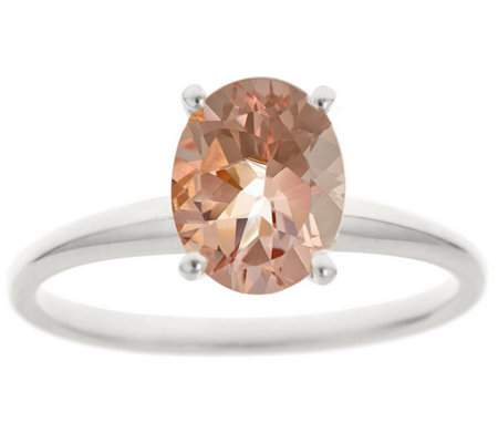 1.25 ct Oval Morganite Ring, 14K Gold