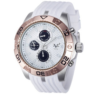 V19.69 Italia Men's White & Rosetone Watch w/ White Strap - J343941