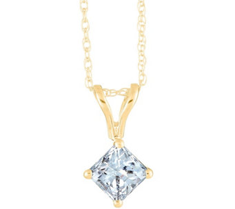 Princess-Cut Diamond Pendant, 14K Yellow, 3/4 cttw by Affinity - J345041
