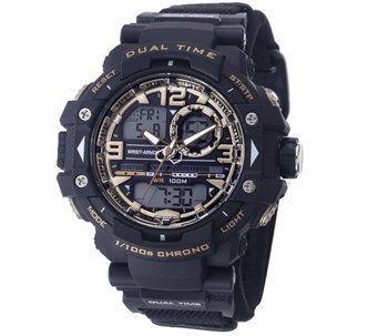 Wrist Armor C41 Multifunction Watch - Black & Goldtone Dial - J345741