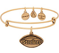 Alex and Ani Goldtone NFL Football Charm Bangle - J352641