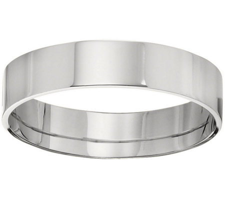 Men's 14K White Gold 5mm Flat Comfort Fit Wedding Band