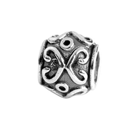 Prerogatives Sterling Scroll Bali Bead