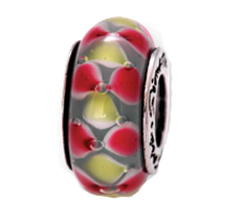 Prerogatives Sterling Red and Yellow Glass Bead