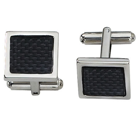 Forza Stainless Steel Carbon Fiber Cuff Links