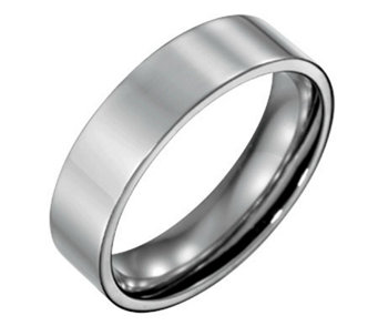Forza Men's 6mm Steel Flat Polished Ring - J109542