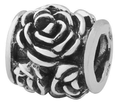Prerogatives Sterling Silver Rose Bali Bead