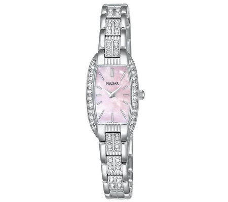 Pulsar Ladies Pink Dial Jewelry Watch