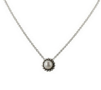 Honora Girls Flower Sterling Cultured Freshwater Pearl Pendant - J111842
