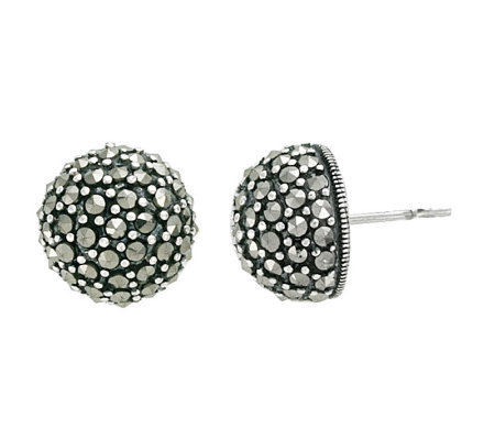 Suspicion Sterling Marcasite Medium Domed StudEarrings
