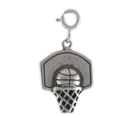 Sterling Basketball Hoop Charm