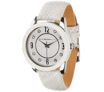 Isaac Mizrahi Live! Embossed Strap Watch - J268042