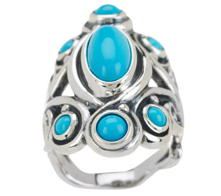 Carolyn Pollack Sleeping Beauty Turquoise Sterling Ring