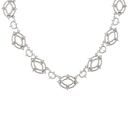"Judith Ripka Sterling 2.0ct Diamonique Laurel 18"" Necklace"