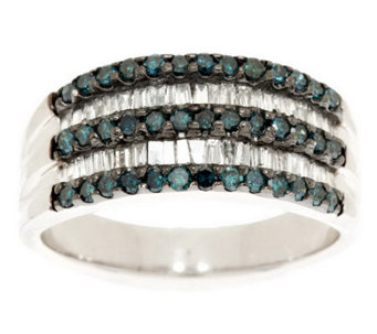 Baguette & Round Diamond Ring, Sterling, 3/4 cttw, by Affinity - J279642