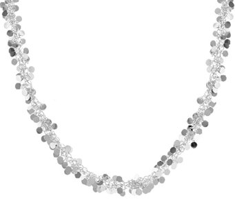 "Vicenza Silver Sterling 20"" Confetti Design Necklace, 20.9g - J289942"