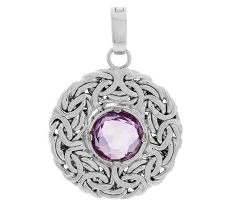 """As Is"" 14K Gold 1.50cts Amethyst Byzantine"